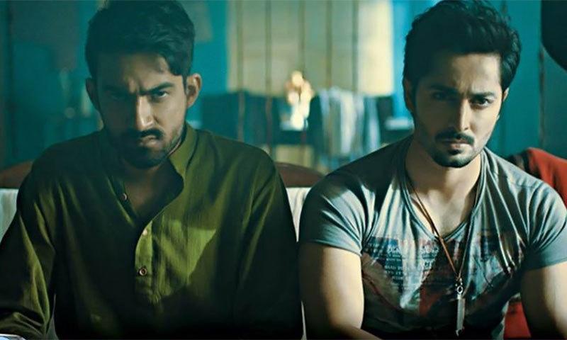 علی سفینہ اور دانش تیمور فلم جلیبی کے ایک سین میں