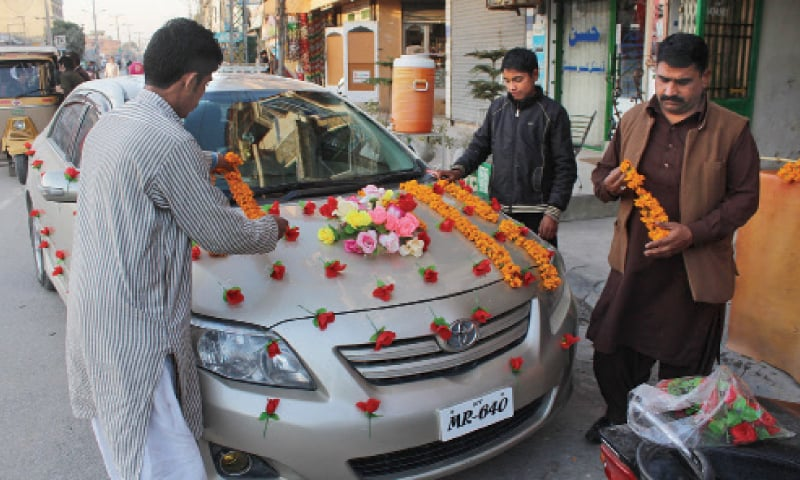 The business of holy matrimony pakistan dawn com for Auto decoration in pakistan