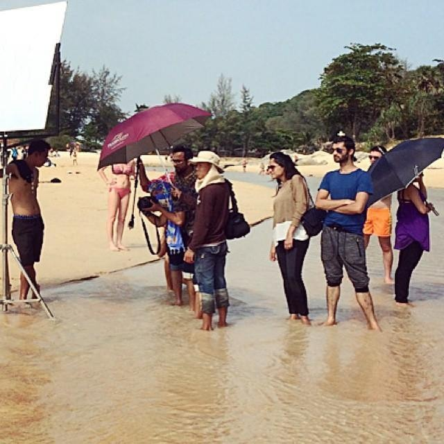 The Sania Maskatiya team headed to Thailand to shoot for their upcoming lawn line.
