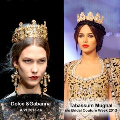Tabassum Moghul's crowns look very D&G    pic: aamiriat.wordpress.com