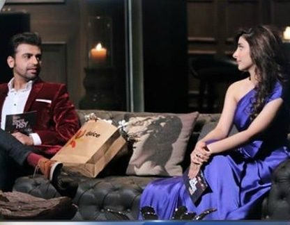Farhan Saeed and Urwa Hocane on 'Tonite With HSY'.— Photo courtesy: Tonite With HSY's Facebook page
