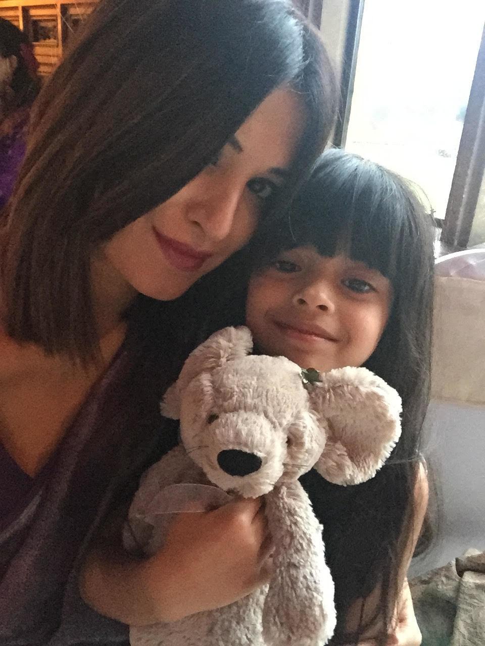 Laila with her mom, Sadia.