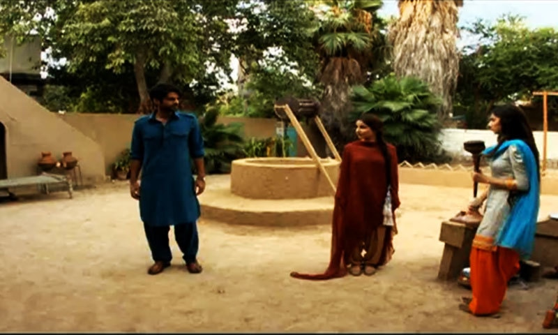 Khelu, Shanno and Humaira in a scene from 'Sadqay Tumhare'