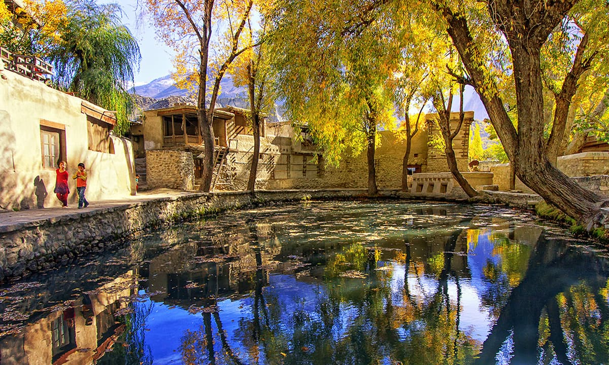 Ganish village in Hunza.