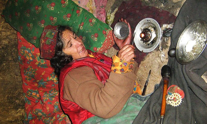 In Chitral, home is the opium den for women and children braving cold