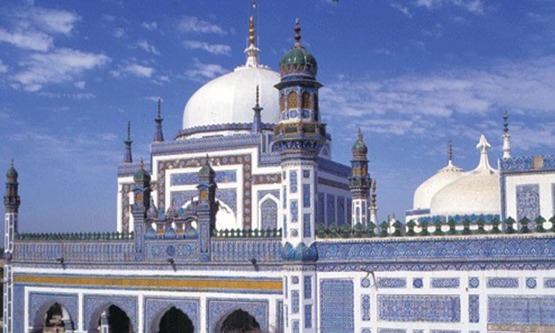 Shah Abdul Bhittai's dargah (shrine) in Bhit Shah