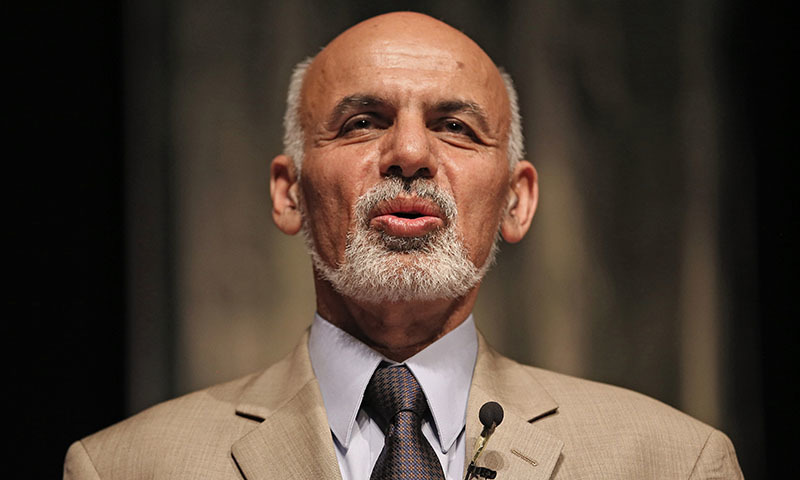 Ghani says that terrorist movements, aimed to destabilise every state, were looking for new bases of operation.—AFP/File