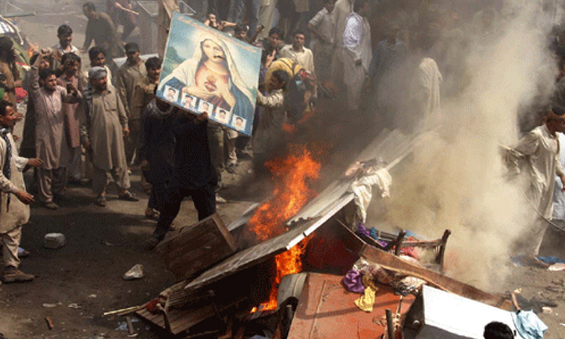 Anti-Christian riots at Joseph Colony in Lahore