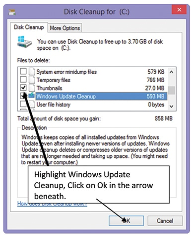 what is windows update cleanup