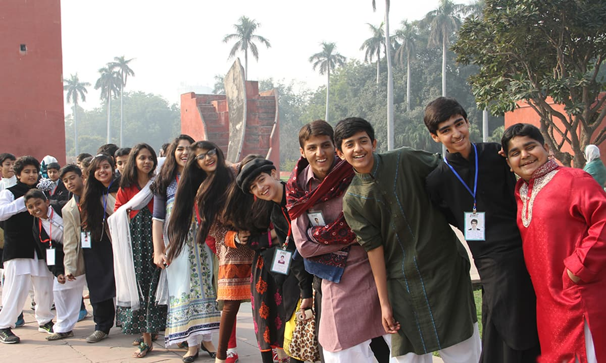 The EFC delegates sightseeing in New Delhi. —  Rida Arif/ The Citizens Archive of Pakistan.