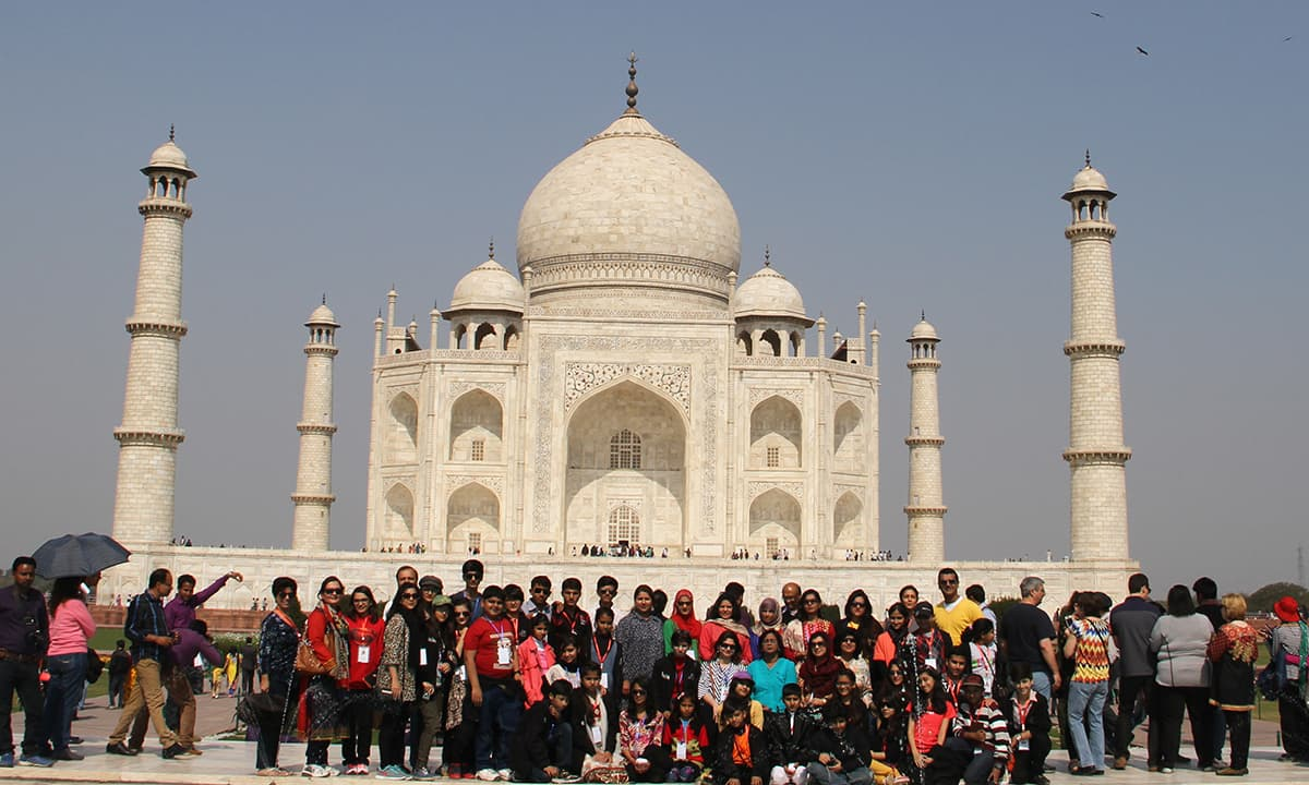 Exchange for Change delegation visited the Taj Mahal, Agra. — Rida Arif/ The Citizens Archive of Pakistan.