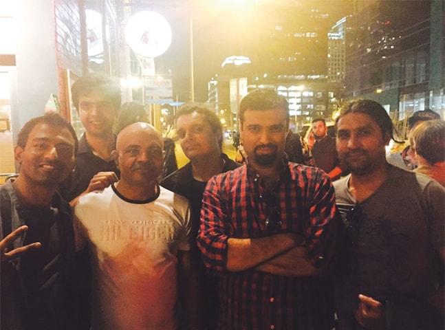 Kami Paul, Danish Khawaja, Ahsan Papu, Mekaal Hasan, Faran Maqsud and Amir Azhar