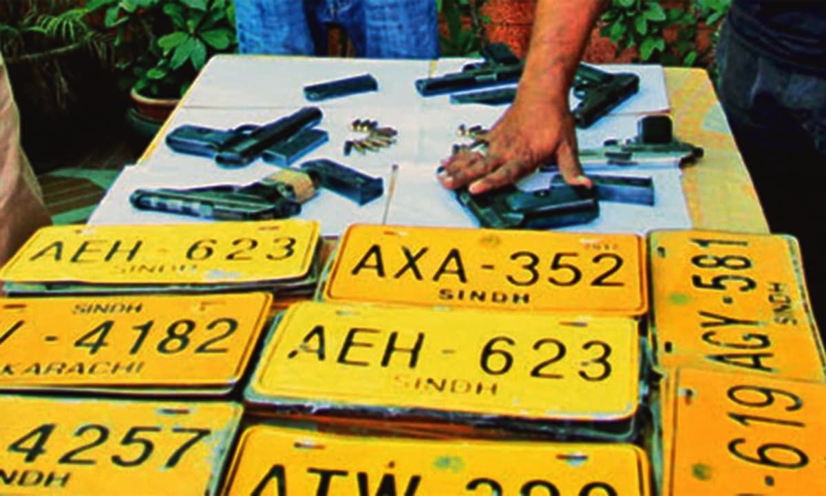Material seized by gangs busted by the ACLC often includes fake number plates and ownership papers.