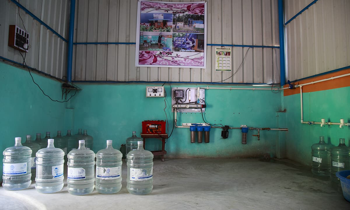 New water treatment plants operated by Sulabh delivers water in 20 litres jars that are cleaned and sealed by the project staff after bottling.— Baba Tamim