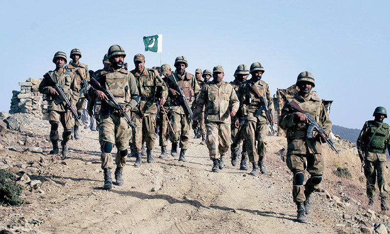 Pakistan army troops could be seen in this photo. — AP/File