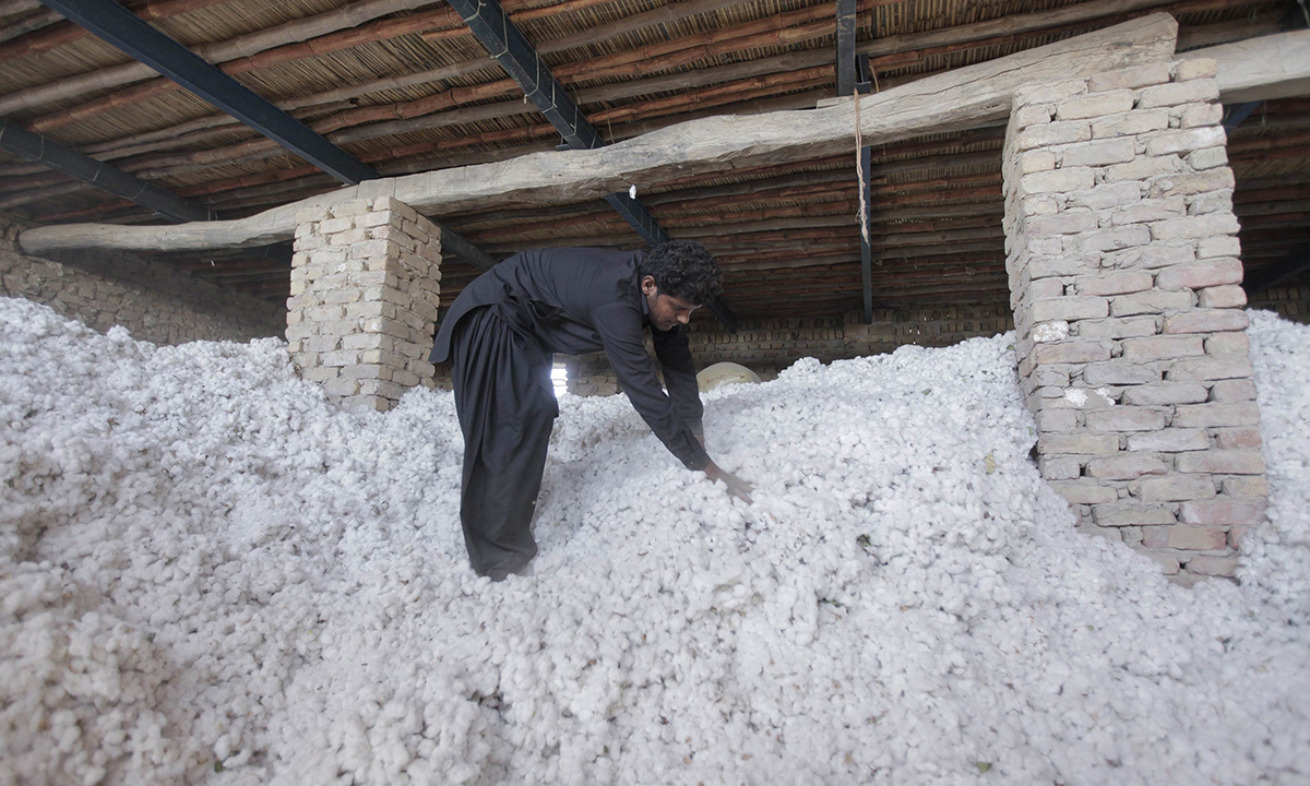 Though there is slow off-take of cotton yarn, depleted cotton stocks with ginners are creating panic buying from needy spinners who are eager to replenish their stocks.— Reuters/file
