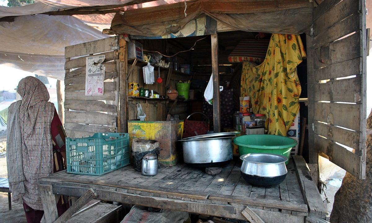 One of few tea stalls of the community.