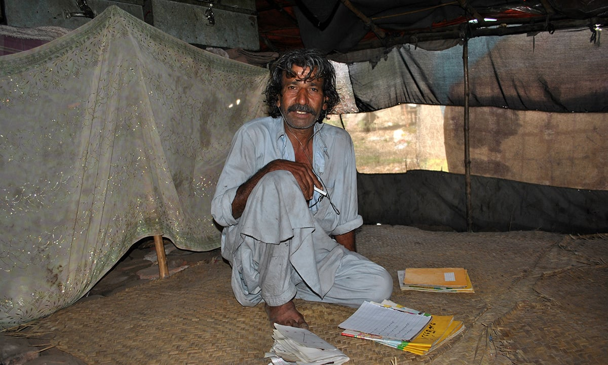 Sajjad, has done matriculation through self-study, he has also managed to get some books but so far not succeeded in getting any pupils.
