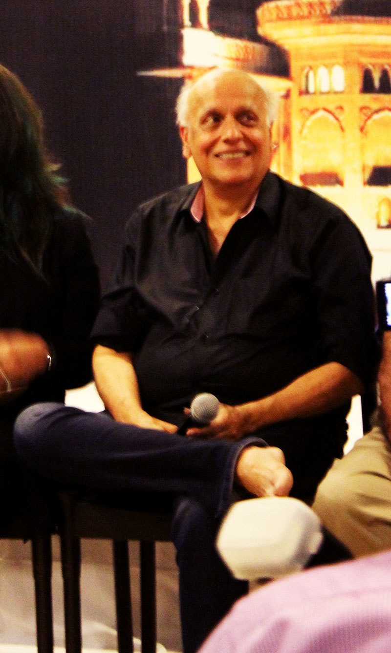Mahesh Bhatt smiles at a question.— Photo by Zoya Anwer