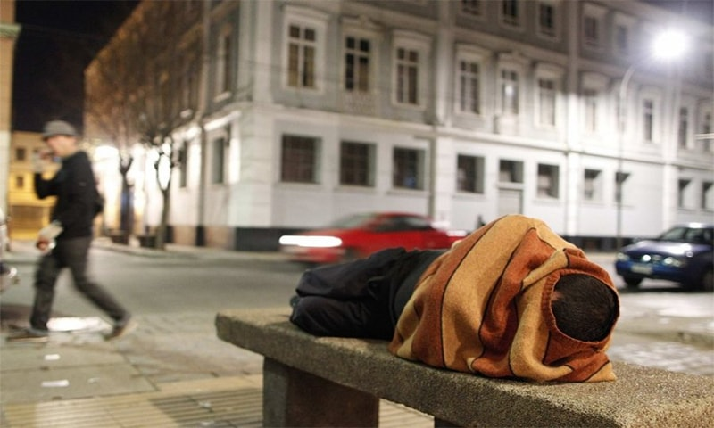 On any given night, 35,000 Canadians are homeless.—Reuters