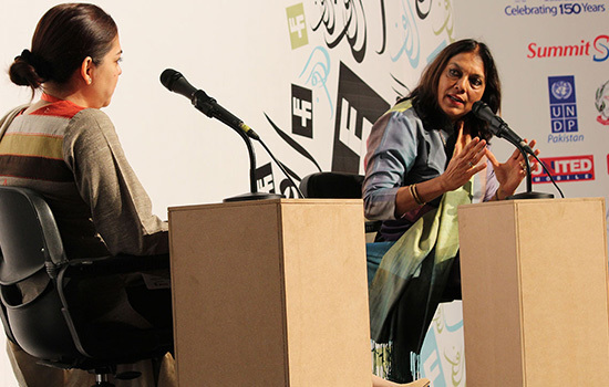 Mira Nair (R) with Mira Hashmi – Asif Umar