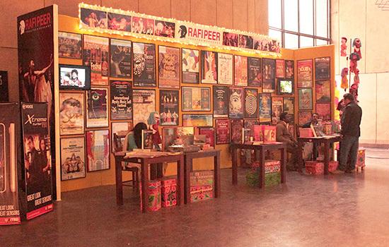 One of the book stalls at LLF – Hamza Cheema