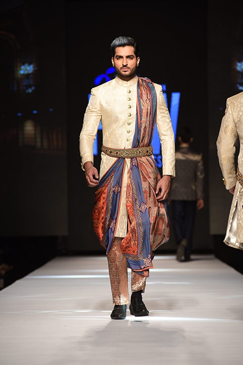 Amir Adnan's collection was definitely regal.