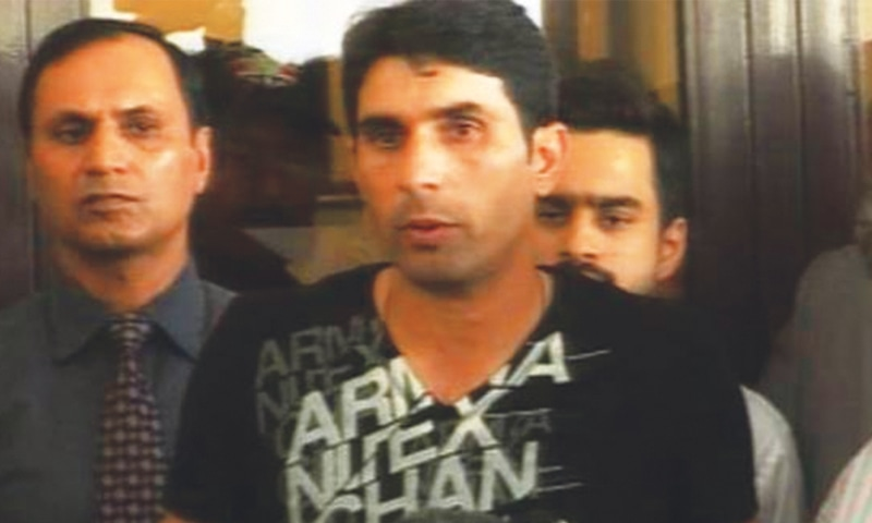 An outraged Misbah-ul-Haq speaking to the media after his return from the World Cup