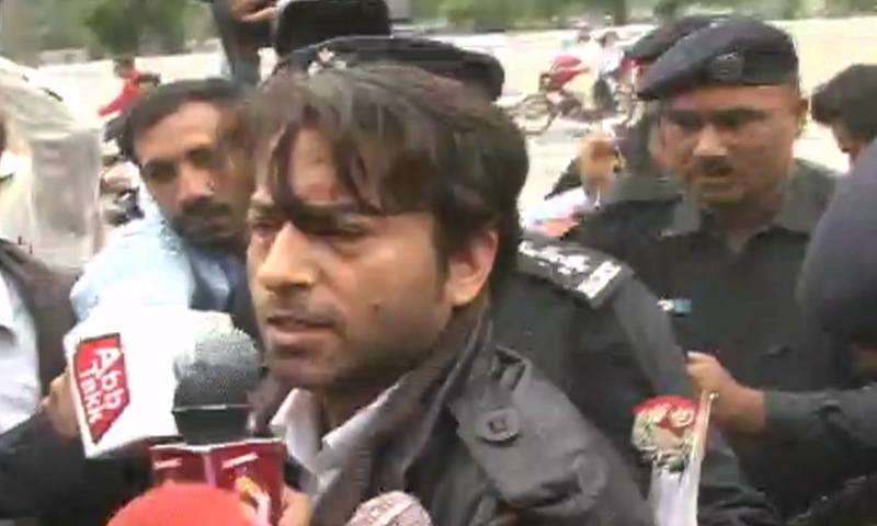Mustafa Kanju has been sent on an eight-day physical remand by an ATC. ─ DawnNews screengrab