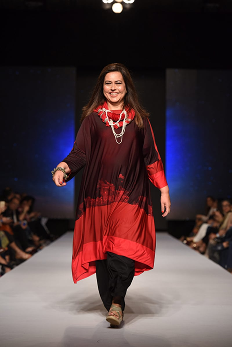 Ayesha Tammy Haq walked the ramp for Sonya.