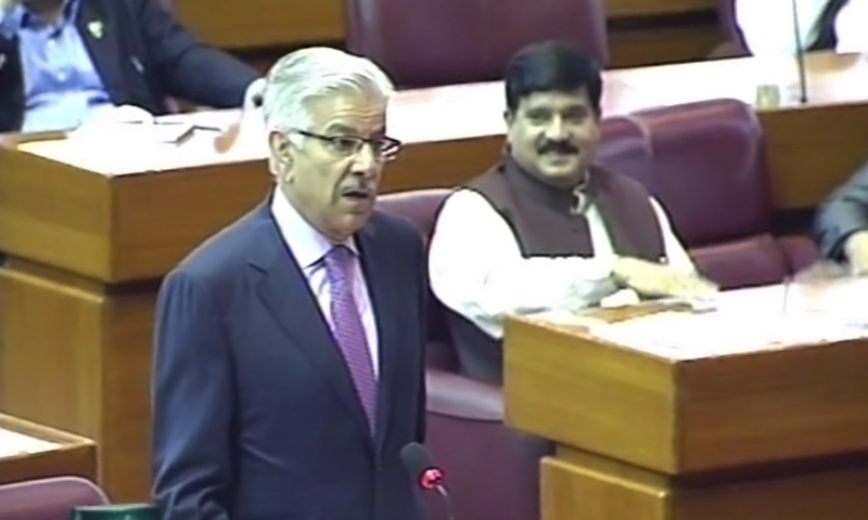 """""""It is my proud privilege to introduce to the Parliament a topic of high national interest — the issue of Yemen,"""" says Defence Minister Khawaja Asif."""
