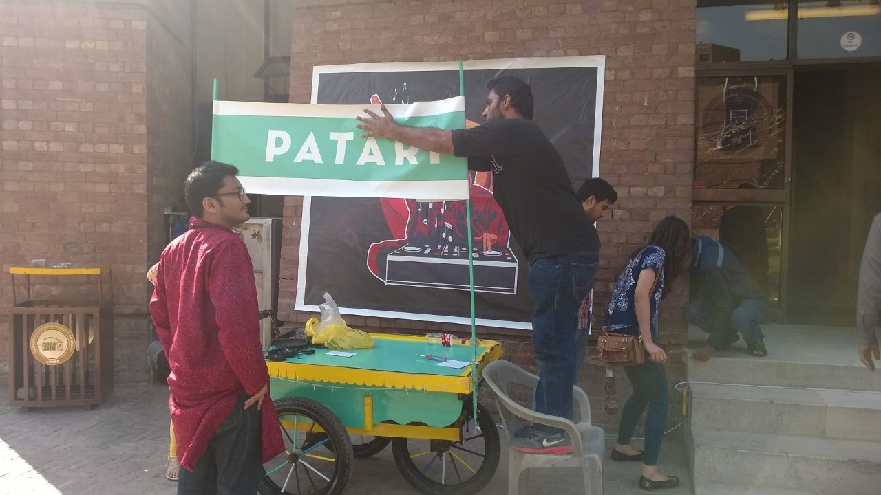 Music sharing site Patari sets up a stall.
