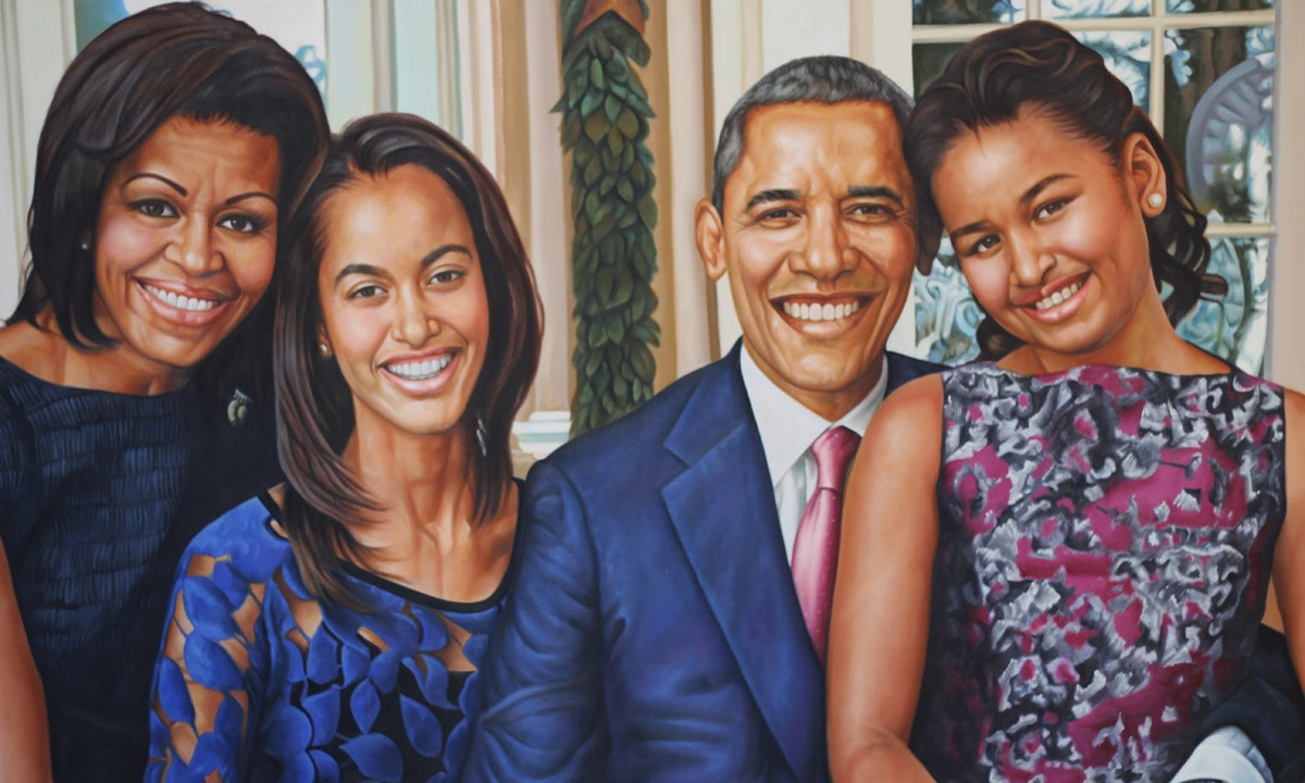 The painting of the Obamas which received instant recognition.— Yumna Rafi