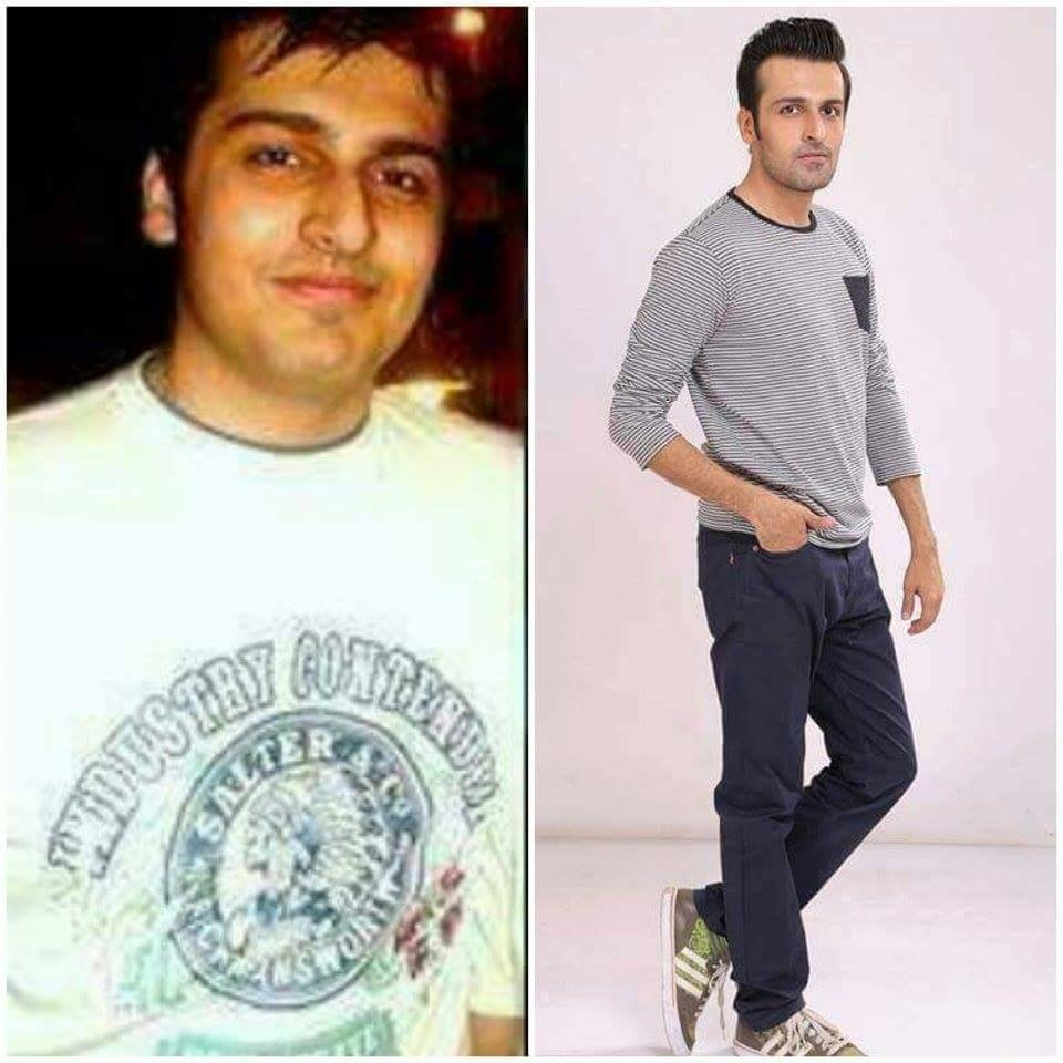 From L-R: Faizan's transformation is nothing short of amazing.