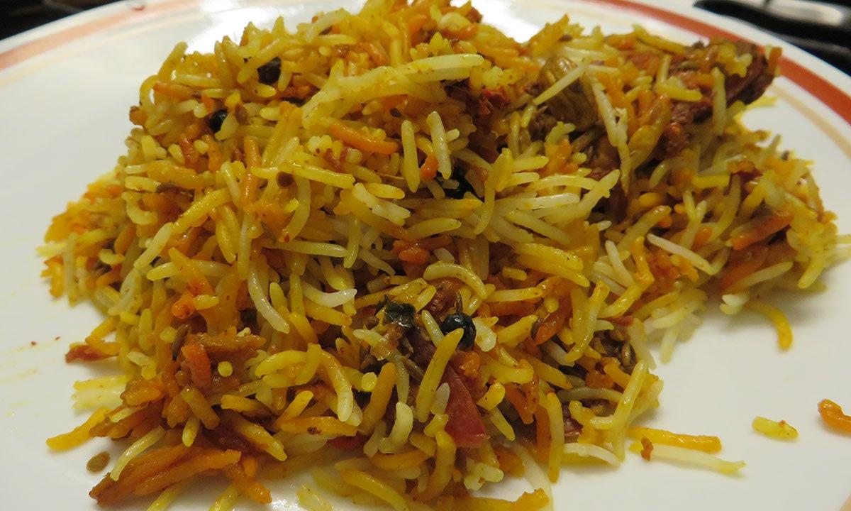 Biryani from Daily Dubai Restaurant — Photo by author