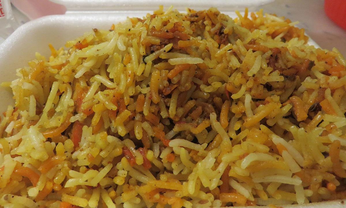 Biryani from Hyderabad Biryani & Haleem— Photo by author
