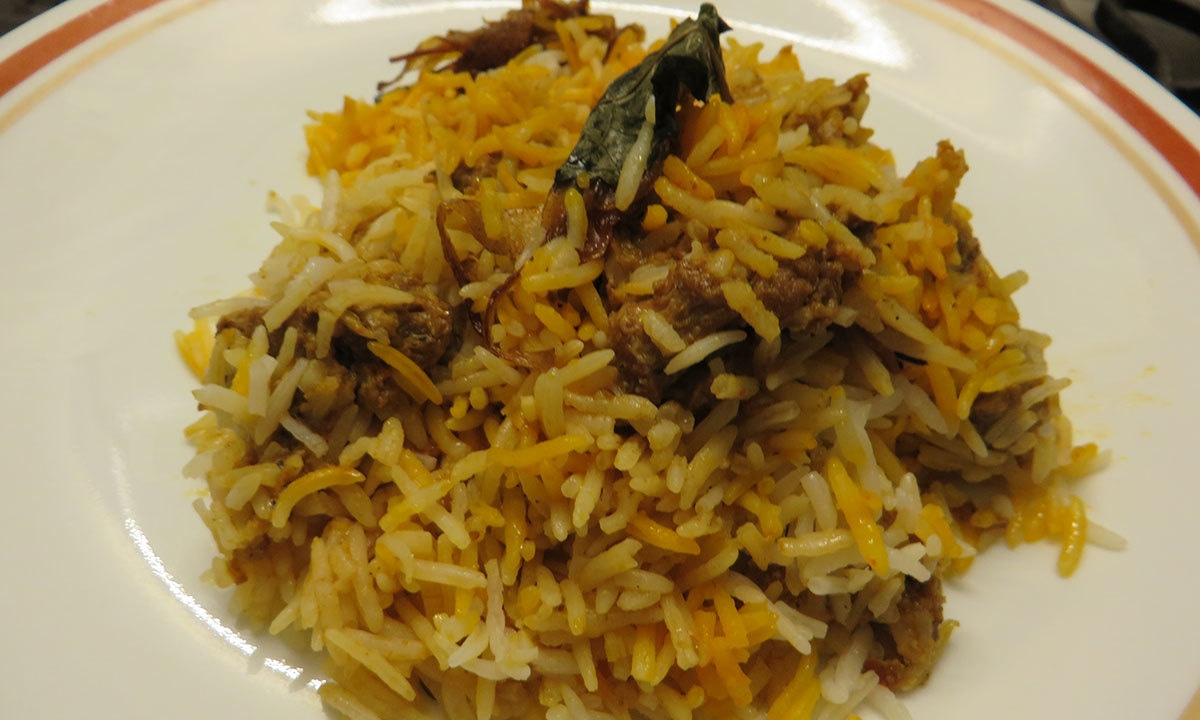 Kachay Gosht Ki Mutton Biryani.— Photo by author