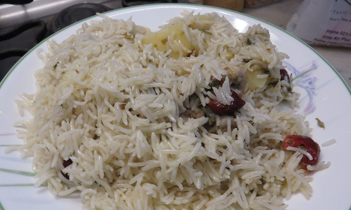 The White Biryani— Photo by author
