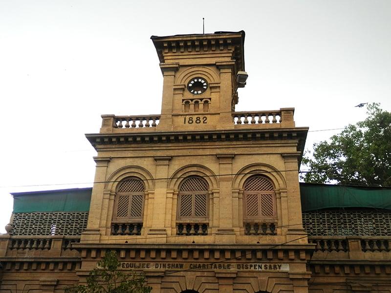 ایمپریس مارکیٹ کے پاس 1882 میں قائم شدہ ایڈلجی ڈنشا چیریٹیبل ڈسپنسری