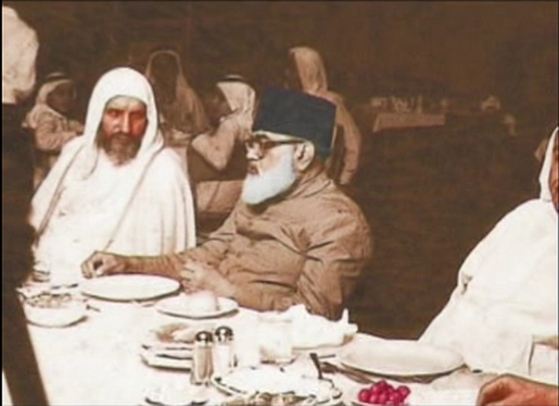 Islamic scholar and founder of JI at an ulema reception in Saudi Arabia (1973). He opposed Ayub and Bhutto's versions of the Pakistan Ideology but became the main inspiration behind Zia's understanding of it. He passed away in 1979.