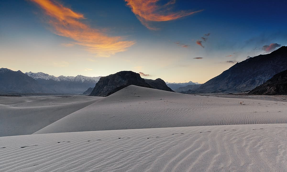 Cold desert at dusk.— S.M.Bukhari