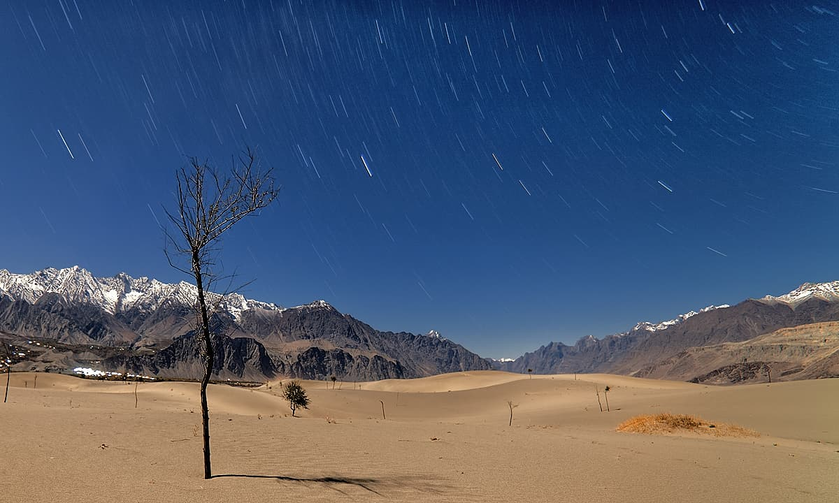 Cold desert at night.— S.M.Bukhari
