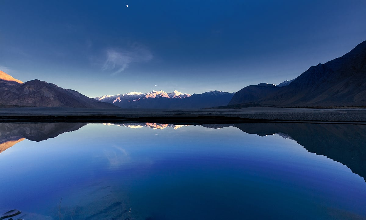 Dusk at Indus river. — S.M.Bukhari