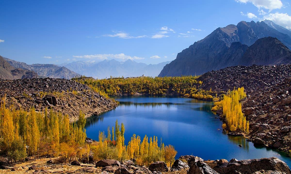 Entire view of upper Kachura lake.— S.M.Bukhari