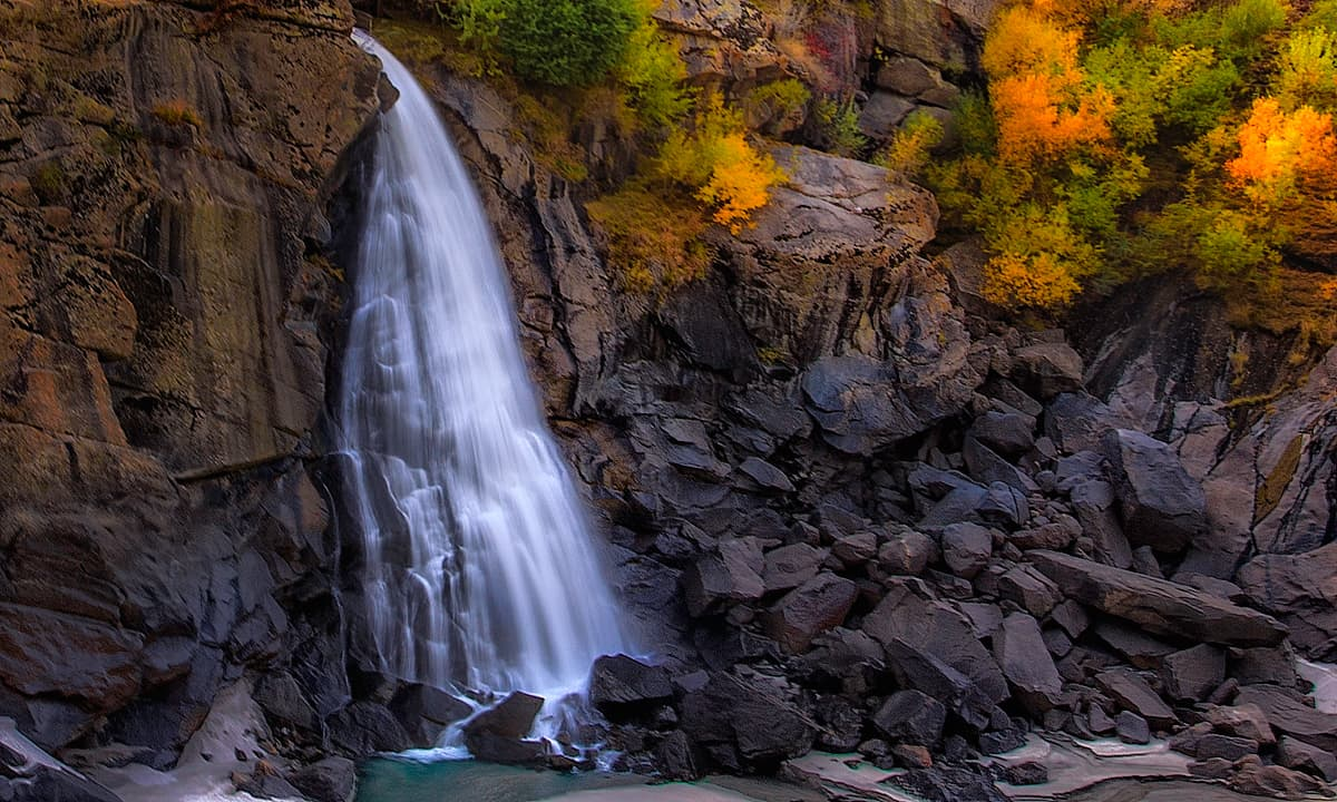 Waterfall at Skardu. — S.M. Bukhari