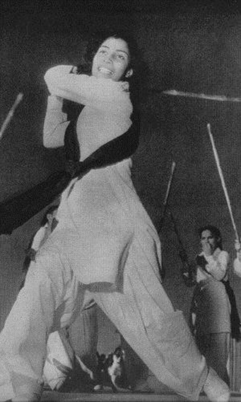 Fire and flair: Female students at a college in Karachi learn Taekwondo (a Korean Martial Arts sport) in 1948.