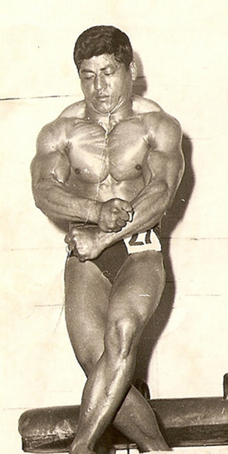 Brawn to rule: Pakistani bodybuilder, Ishaq Baig, on his way to winning the title of Mr. Asia in 1964.