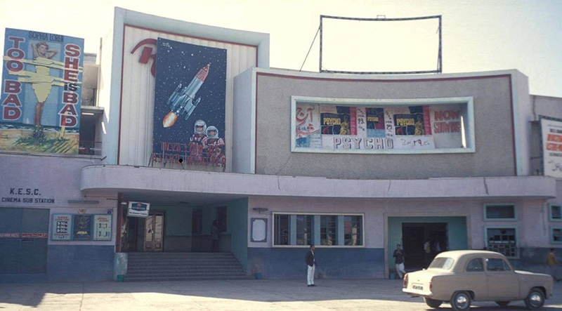 Bad girls, astronauts and a Psycho: Karachi's famous Rio Cinema in 1967. Rio was pulled down in the 1990s and turned into a gaudy 'shopping arcade.'