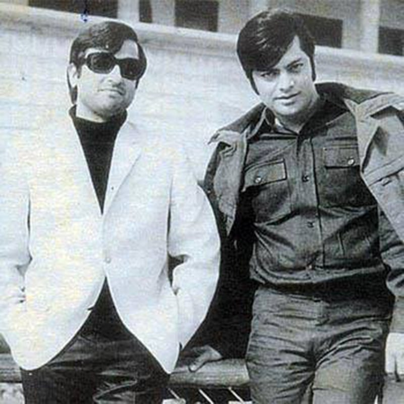 Star stuff: Leading Pakistani film actors of the 1970s, Nadeem and Waheed Murad, in Lahore in 1973.