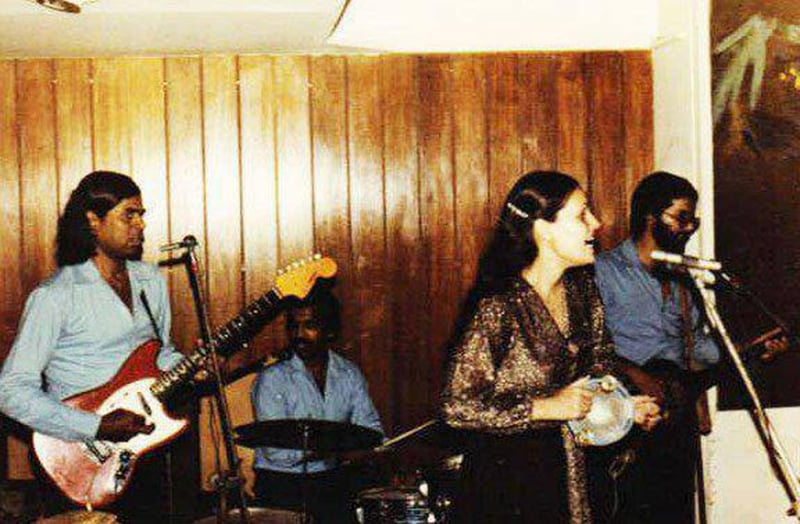 Jamming: A pop band of Pakistani Christians performing at Karachi's Horseshoe Club & Restaurant in 1974. The club closed down in 1977 and then the restaurant in the early 1980s.